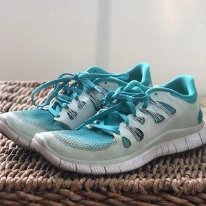 Women's Nike Free Running Shoes, Size 10